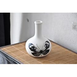 Vase en porcelaine Natura Boule Papillon (16 cm)