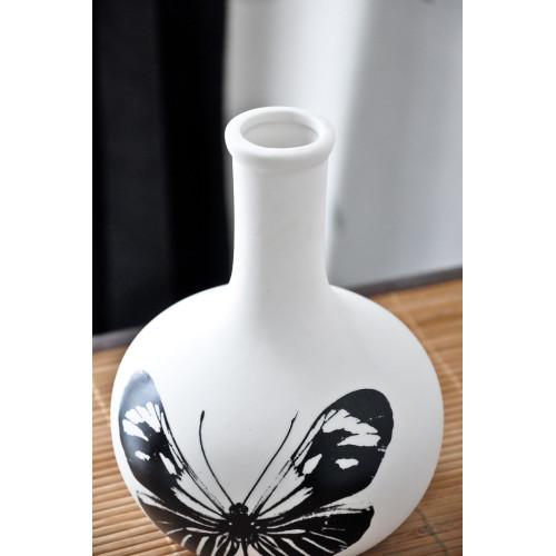 Vase en porcelaine Papillon