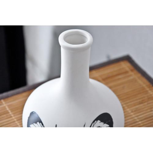 Vase en porcelaine Natura Boule Papillon