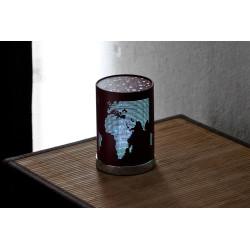 petite lampe motif world