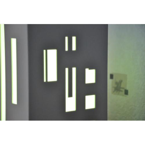 lampe déco en lévitation blanche