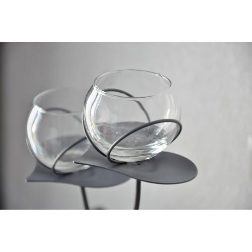 Vase soliflore double sphères Kino Hinzo