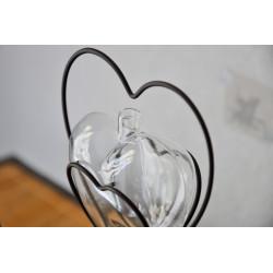 Soliflore design Coeur de Métal Double