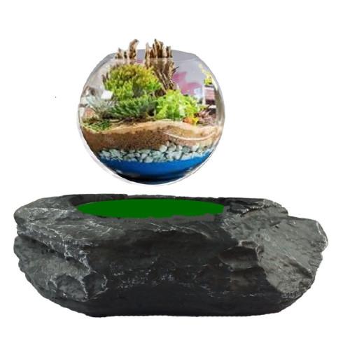 Base électromagnétique Rocher + bulle