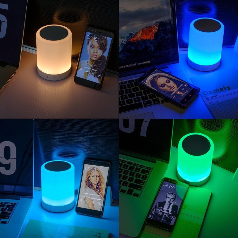 Enceinte Bluetooth avec 4 couleurs de lumières