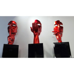 Statues Design rouges-collection Initial
