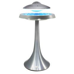 Enceinte en lévitation UFOSOUND Gris sur pied Gris - Leds multicolores