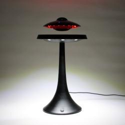 Enceinte en lévitation UFOSOUND noire sur pied noir