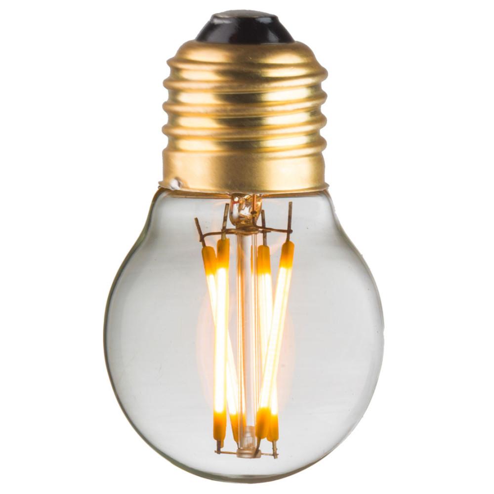 Ampoule G45 E27 filaments droits croisés