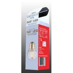 Ampoule G45 E27 filaments droits croisés 2